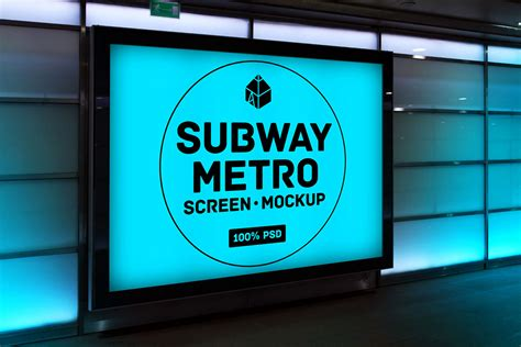 Collection Of Subway Billboard Mockups Mockupworld Subway Poster Template