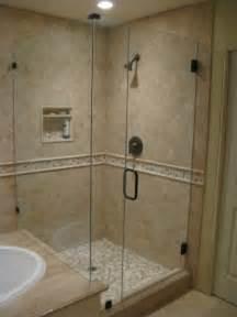 corner shower next to tub