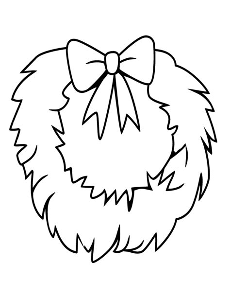 Christmas Wreath Coloring Pages Coloring Home Wreaths Coloring Pages