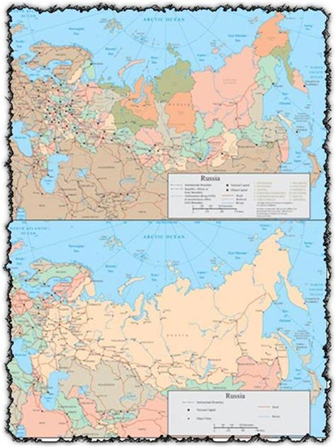 map of russia with cities names russia vector map