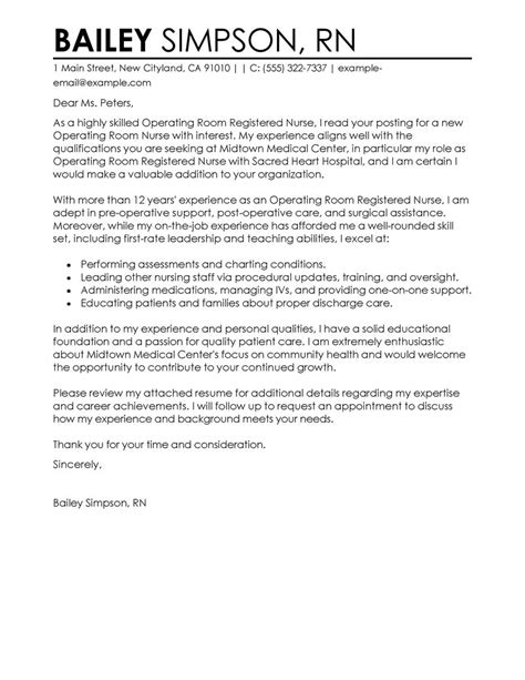 cover letter for nursing uk leading professional operating room registered cover