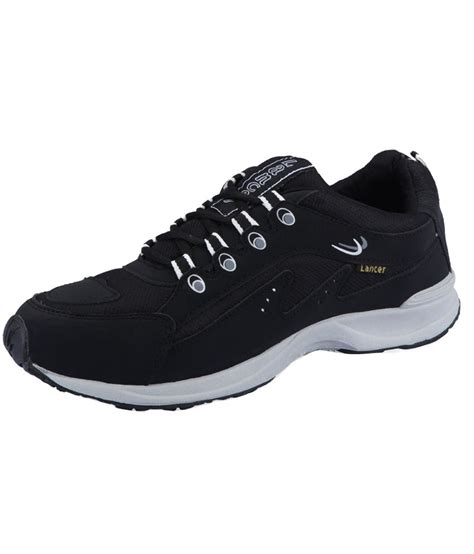 black sport shoes lancer black sport shoes price in india buy lancer black