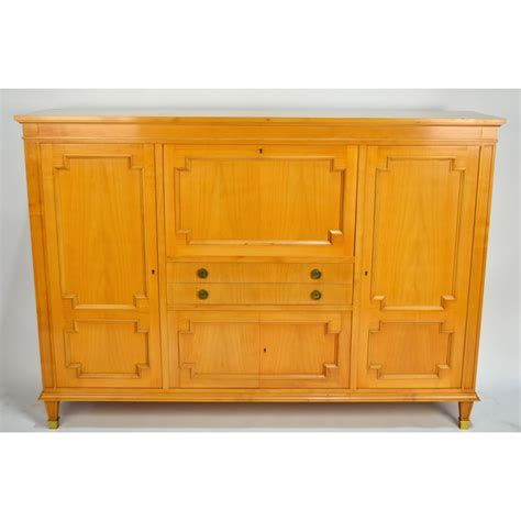 Quality Bar Cabinet Andre Arbus Directoire Style Mid Century Modern Bar Desk Bookcase Cabinet Ebay