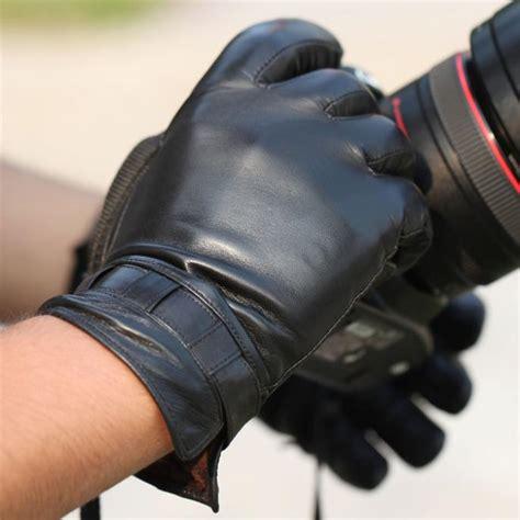 1 6 Bendable Glove top grade genuine leather gloves winter black sheepskin glove new 1 pair lot in gloves