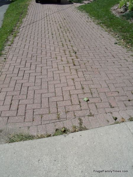 Paver Patio Ideas How To Make A Weed Free Brick Driveway That Stays That