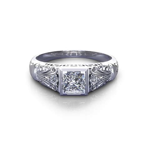 vintage princess engagement ring jewelry designs