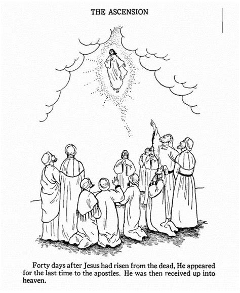 Ascension Thursday Coloring Pages Printable Coloring Pages
