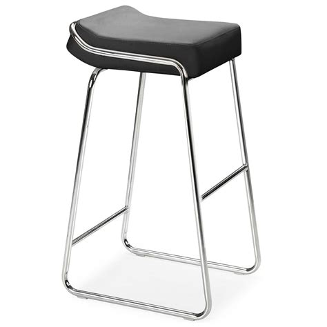Stainless Steel Bar Stool Without Backrest With Round