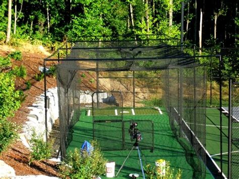 baseball batting cages for backyard awesome backyard cage who wouldn t want to have a yard
