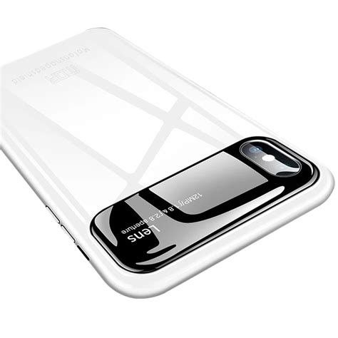 mofi coverage pc lens back glass for iphone xs max white alexnld