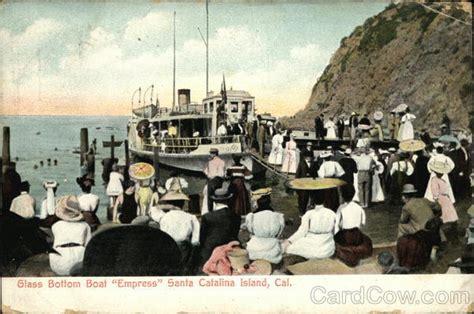 glass bottom boat avalon ca glass bottom boat quot empress quot santa catalina island ca postcard