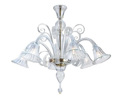 Clear Glass Chandeliers Nella Vetrina Clear Gold Murano 6 958 6 Murano Chandelier