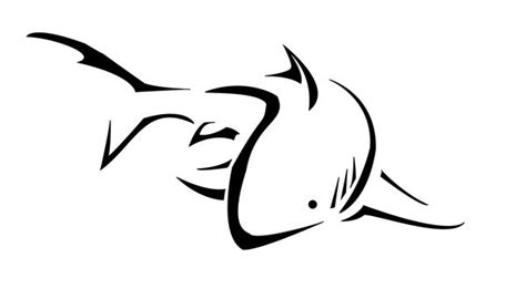 shark outline tattoo 57 popular shark tattoos and designs