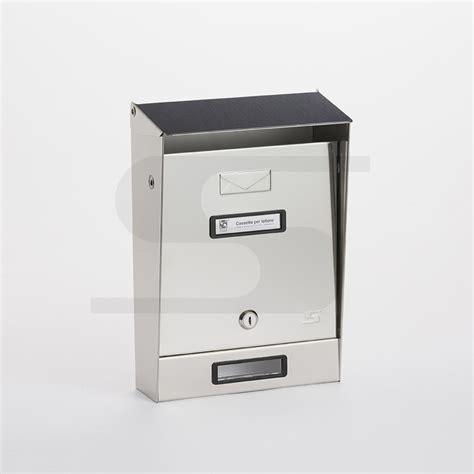 cassetta postale inox cassetta postale singola in acciaio inox con tetto