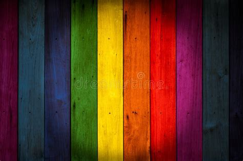 LGBT Colorful Color Wood Background Stock Image   Image of