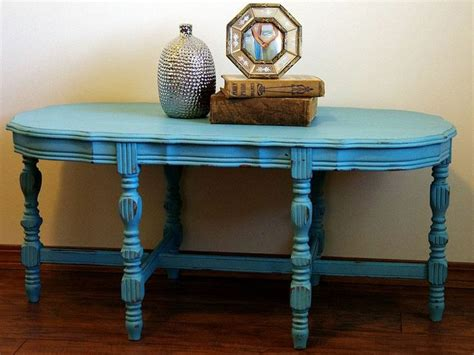 Turquoise Distressed Chalkpainted Coffee Table Distressed Turquoise Coffee Table