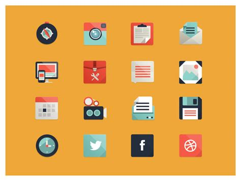 icon design how to 30 best exles of modern flat icon set mkels com