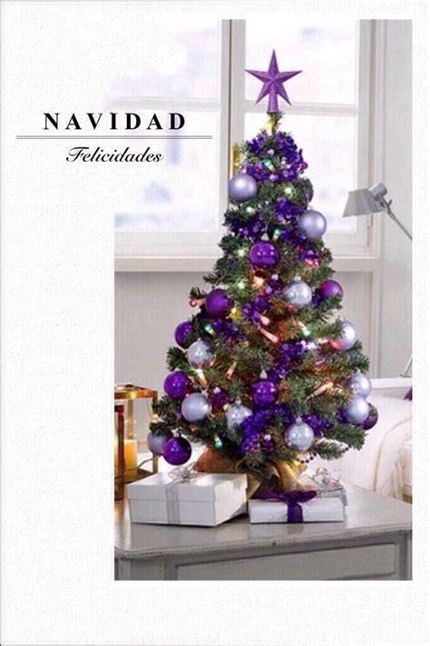 arbol de navidad en morado decoraci 243 n navide 241 a pinterest