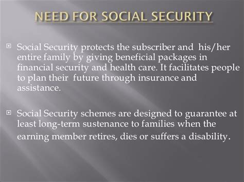 Social Welfare And Mba by Social Security And Welfare