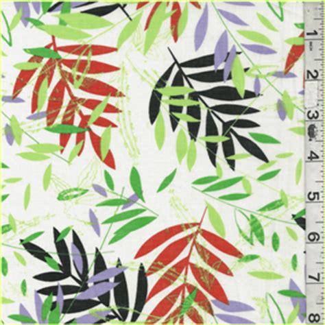 The B Club Leaf Print Black green orange leaf print lawn 17117 fashion fabrics