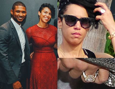 Ushers Engaged by Usher Engaged To Grace Miguel See Engagement