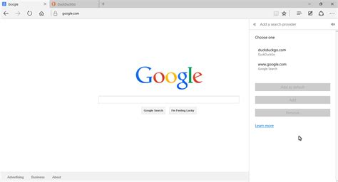 Add Lookup How To Change The Default Search Engine In Microsoft Edge