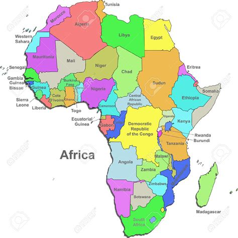 countries  africa map google search   world
