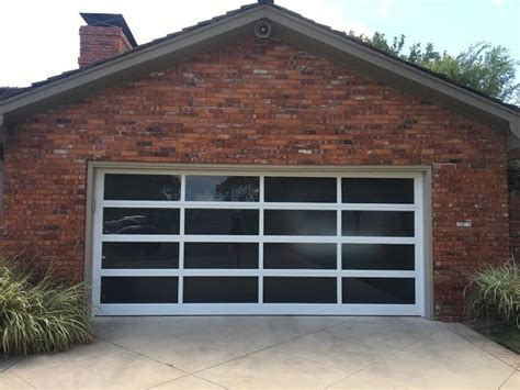Overhead Door Oklahoma City View Glass Modern Garage Oklahoma City By Trotter Overhead Door Garage Home