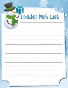 printable wish lists wish list 1
