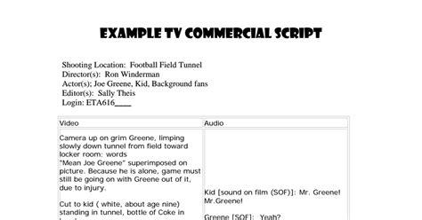 commercial script template coke commercial script pdf drive