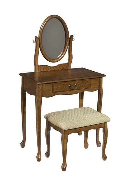 oak vanity table with mirror and bench vanity mirror bench woodland oak 604 510 decor south