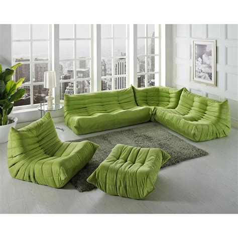 Green Sectional Sofa 5 Pc Waverunner Green Sectional Sofa Set East End Imports Eei 558 Grn