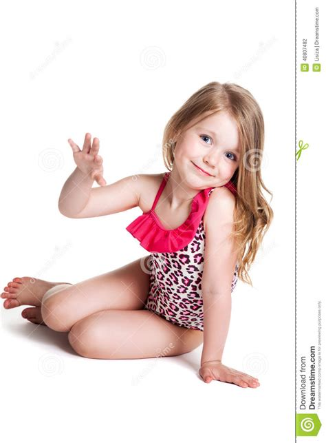 little blond girl models images usseek com little blonde happy girl in pink swimsuit lying on the