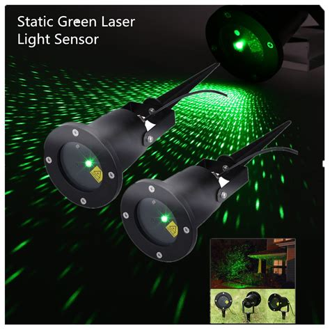 2x Green Led Laser Projector Light Garden Landscape Xmas Outdoor Laser Projector Lights