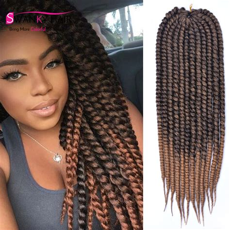 color 30 braiding hair 24inch mambo twist crochet braids hair extension 1b 30