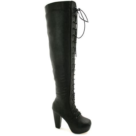 buy heeled concealed platform knee boots