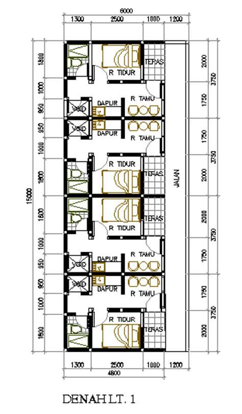 desain rumah petakan di lahan 6 215 15 m2 eramuslim