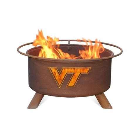 Patina Products F431 Virginia Tech Fire Pit Natural Patina Pit