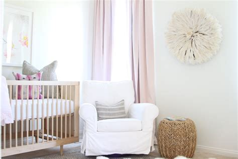 Layla Grayce Rugs A Soft Pink And Gold Nursery Becki Owens