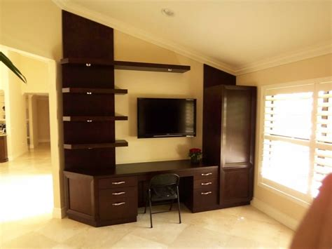entertainment center with desk wall units accent pieces m heller custom furniture