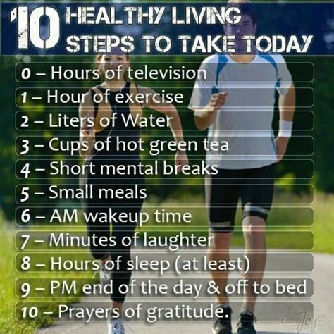 10 steps in 10 days to craft an 10 healthy living steps to take today pictures photos and images for facebook