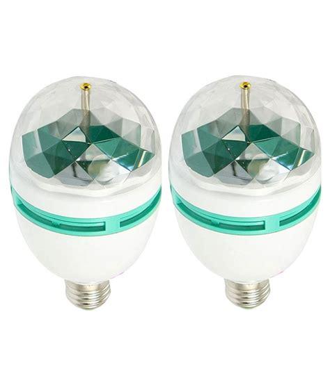 Best Deals On Led Light Bulbs Best Deal 3w Multicolour Rotating Led Bulb Set Of 2 Buy