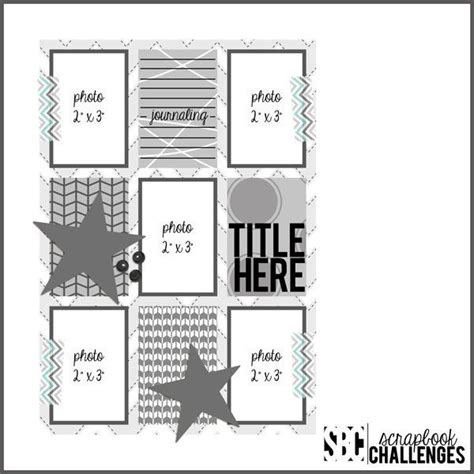 scrapbook layout sketches pinterest 500 best single lo 5 photos scrapbook sketches images