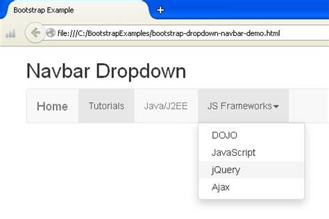 tutorial bootstrap dropdown bootstrap dropdown plugin