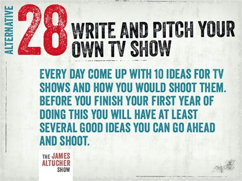 how do you write a tv show in a paper write and pitch your own tv show