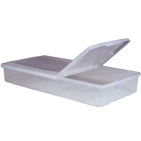 under bed storage container split top plastic underbed storage box in plastic storage