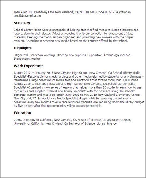 Librarian Sample Resume – Curriculum Vitae: Librarian Curriculum Vitae Examples