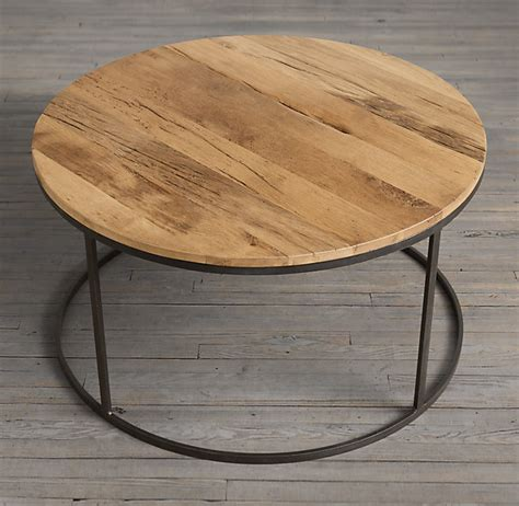 restoration hardware round coffee table watts reclaimed russian oak round coffee table