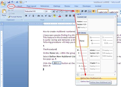 Multi Level Outlines Definition by How To Fix Multilevel List In Word 171 Ms Word How