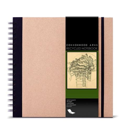 sketchbook recycled paper c1 recycled sketchbook 9 5x9 5 cottonwood arts